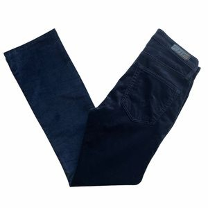 AG The Jodi Blue Velvet Crop Pants Sz 24